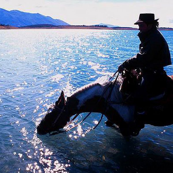 Gaucho am Lake Argentino
