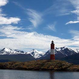 Lighthouse at the End of the World in Ushuaia